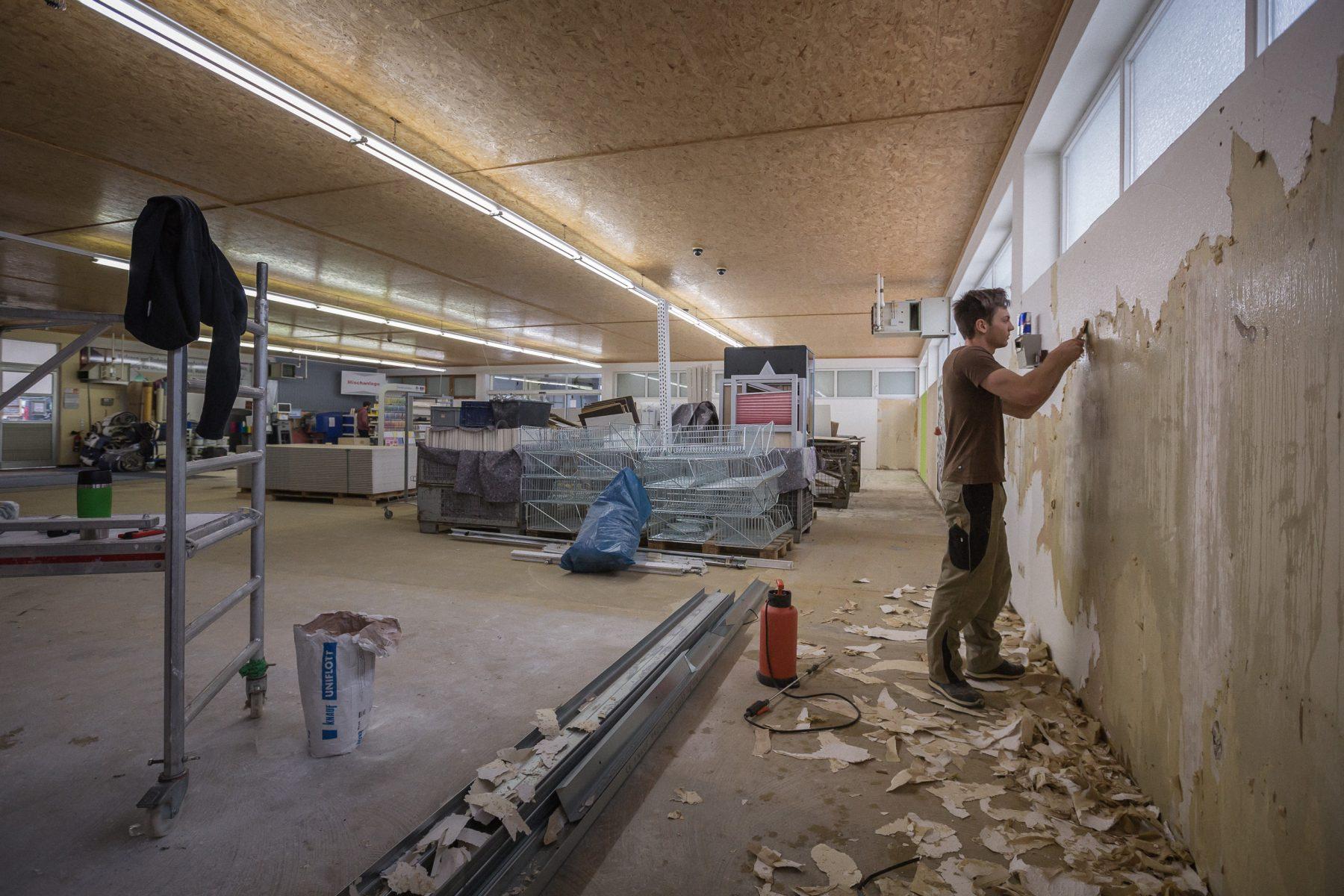 10723 Baufortschritt Werkstatt und Laden 170126 MG